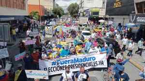 Guaros tomaron las calles de Barquisimeto en apoyo al Acuerdo de Salvación Nacional: Exigen elecciones presidenciales (FOTOS)