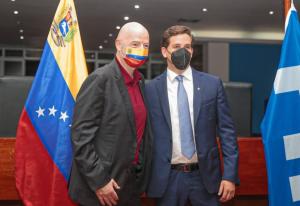 Infantino dijo que el futuro del fútbol de Venezuela será espectacular